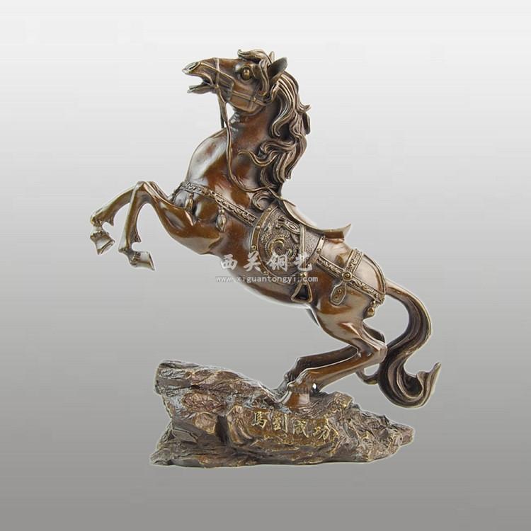 铸铜 铸铜工艺品 工艺流程 定制马到成功铜摆件