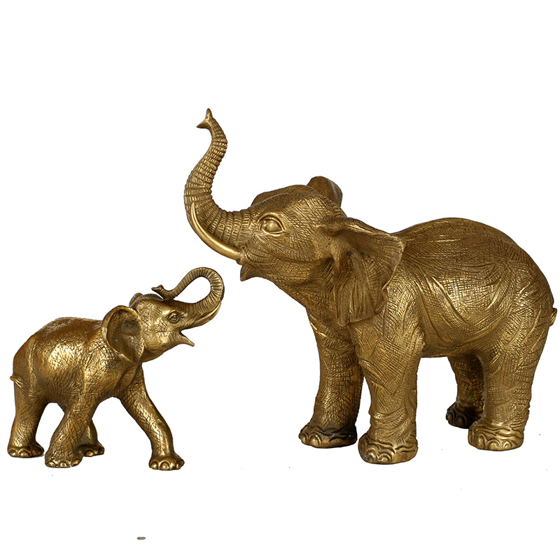 精品铜雕大象摆件,家居风水工艺品