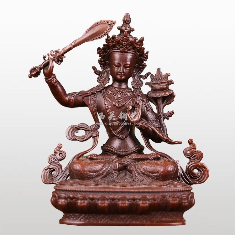 铸铜密宗文殊菩萨佛像